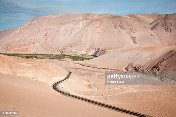 Sand dunes along Highway CH 11 in lower Andes