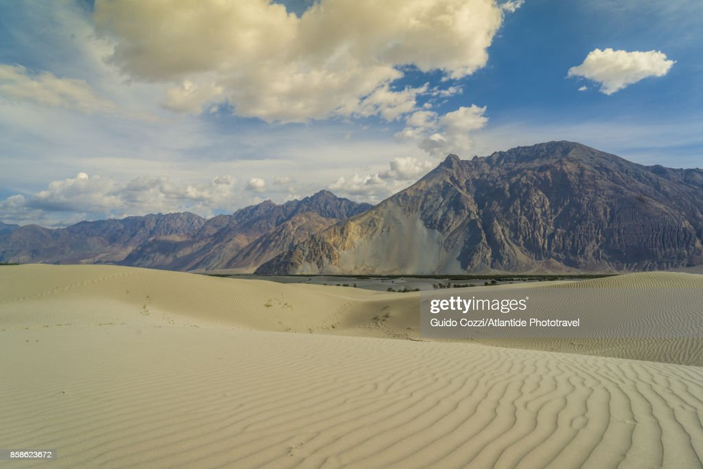 Sand dunes along Shyok Valley : Stock-Foto