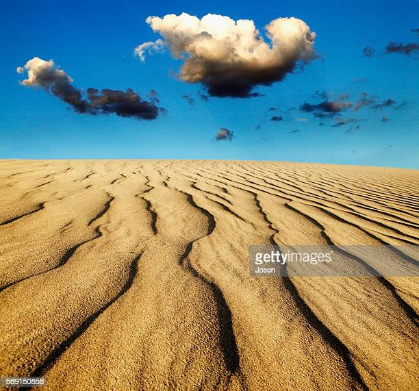 Sand Dunes and Clouds in Death Valley National Park