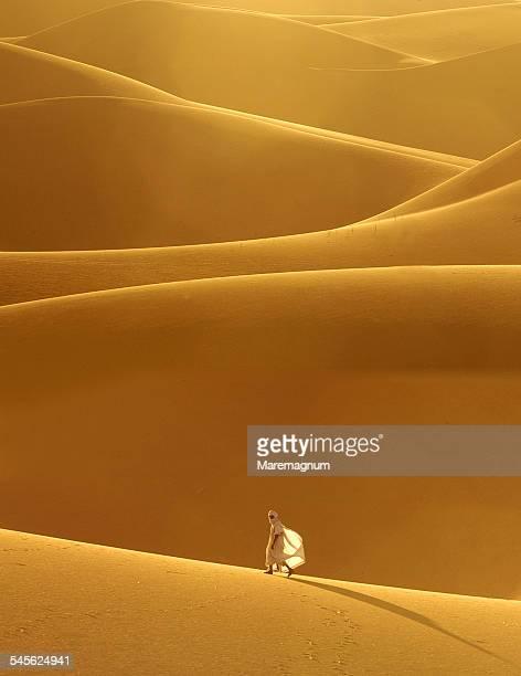 Sand dunes around the town