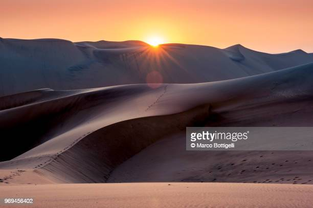 Sand dunes at sunset, Swakopmund