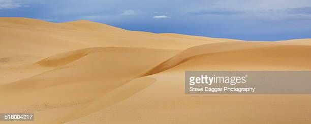 Sand dunes during storm