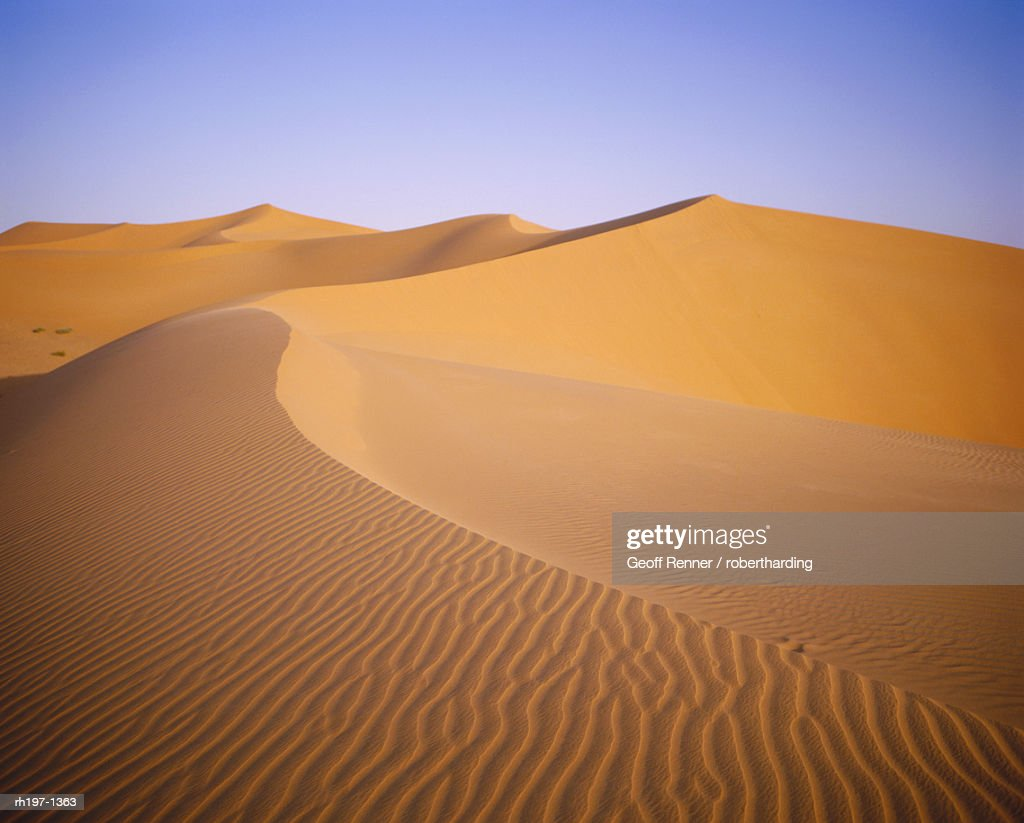 Sand dunes, Grand Erg Occidental, Sahara Desert, Algeria, Africa : Foto de stock