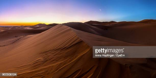sand dunes in a desert - merzouga stock pictures, royalty-free photos & images
