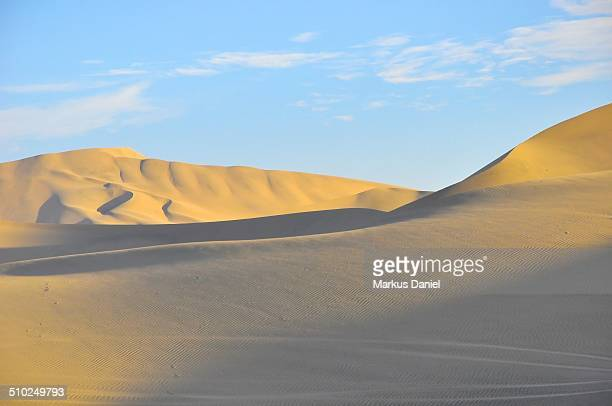 Sand dunes in the desert near Huacachina