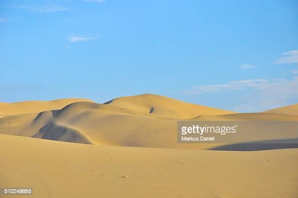 Sand dunes in the desert near Huacachina