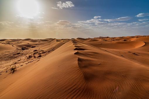 Sand dunes in the Sahara Desert - Morocco 983422208