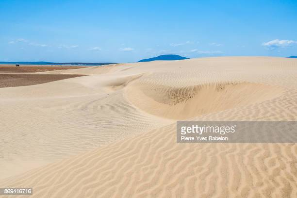 sand dunes near the anony lake - pierre yves babelon stock pictures, royalty-free photos & images