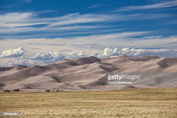 sand dunes of great sand dunes, colorado, united states - great sand dunes national park stock pictures, royalty-free photos & images