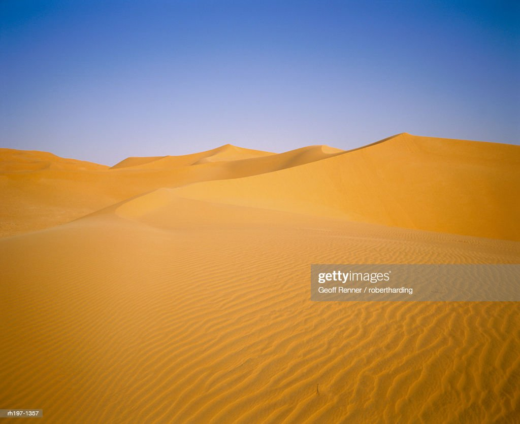 Sand dunes of the Grand Erg Occidental, Sahara Desert, Algeria : Foto de stock
