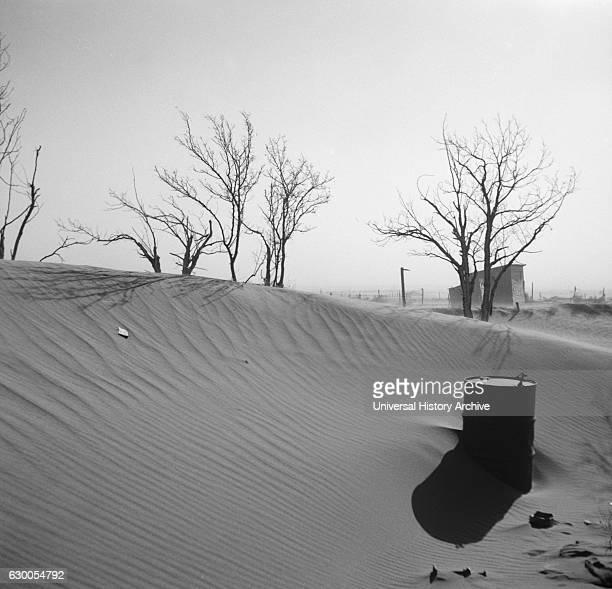 Sand Dunes on Farm, Cimarron County, Oklahoma, USA, Arthur Rothstein for Farm Security Administration , April 1936.