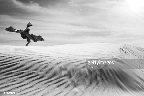 sand dunes - long dress stock pictures, royalty-free photos & images