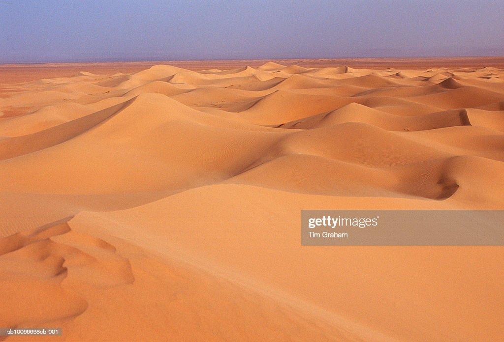 Sand Dunes, Sahara Desert, Morocco : Stock Photo