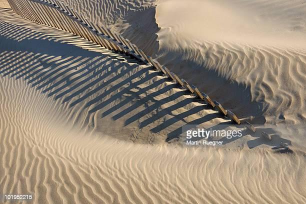 Sand Fence on Beach.