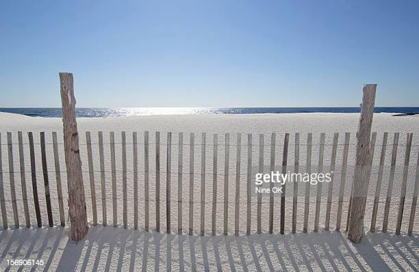 Sand Fence On Beach