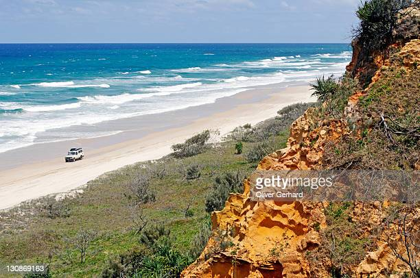 Sand formation at the Red Canyon and the 75-Mile Beach, Fraser Island, Queensland, Australia