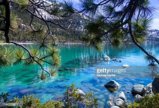 sand harbor 5 - nevada stock pictures, royalty-free photos & images
