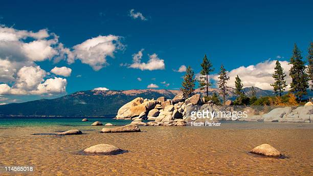 sand harbor at lake tahoe - state park stock pictures, royalty-free photos & images