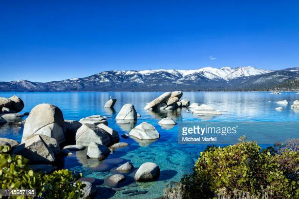 sand harbor, lake tahoe 4 - lake tahoe stock pictures, royalty-free photos & images