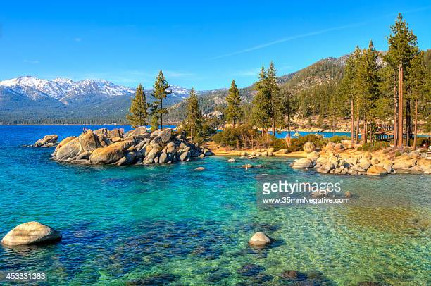 sand harbor state park, lake tahoe, nevada - state park stock pictures, royalty-free photos & images