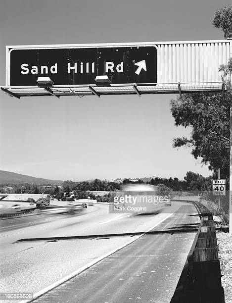 sand hill road sign - menlo park california stock pictures, royalty-free photos & images