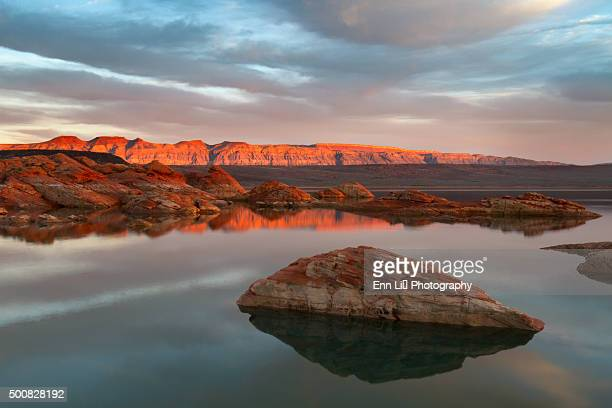 Sand Hollow State Park at sunset