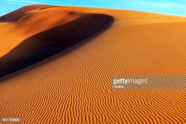 Arena en desierto Erg Chebbi, Merzouga, Marruecos, África del Norte