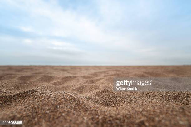 sand on the beach - focus on foreground stock pictures, royalty-free photos & images