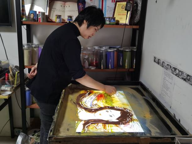 CHN: Sand Painting Artist In Lanzhou