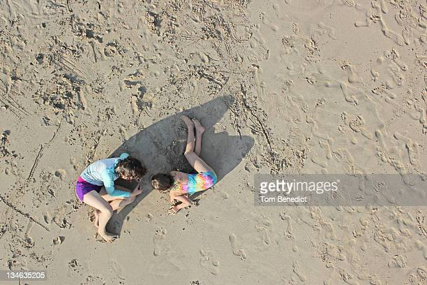 sand play - hapuna beach stock photos and pictures