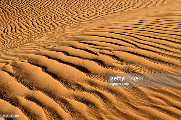 Sand ripples, texture on a sand dune, Tassili nAjjer, Sahara desert, Algeria