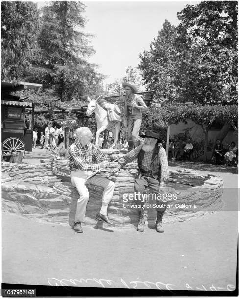 Sand sculpture at Knott's Berry Farm in Buena Park 14 August 1960 Claude Bell Caption slip reads 'Photographer Davis Date Assignment Sand sculpture...