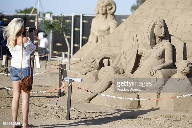 Sand sculptures are being displayed as 22 sculptors from 12 different countries attended to the 10th International Antalya Sand Sculpture Festival...