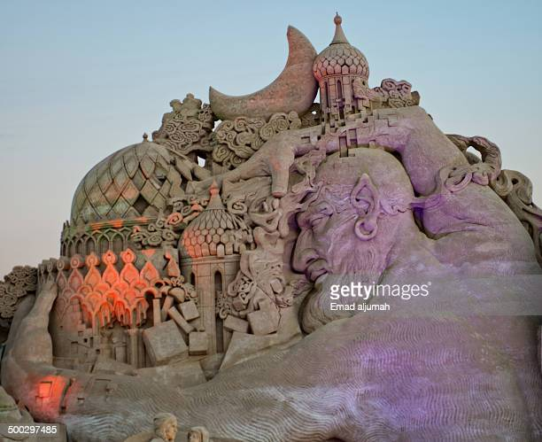 CONTENT] Sand Sculptures at Remal International Festival in Kuwait inspired by the book 'One Thousand and One Nights'