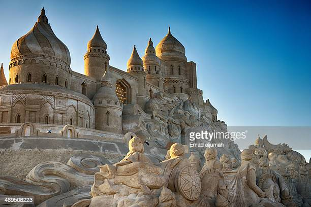 Sand Sculptures at the annual Remal International Festival in Kuwait organized by Proud to Be Kuwaiti. The photo shows scenes inspired by the book...
