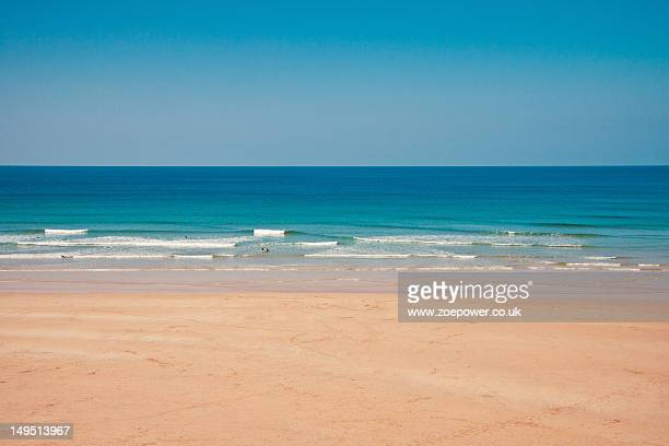 Sand, sea, surf and sky