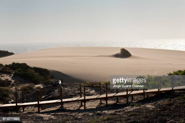 sand storm at guincho beach in cascais, portugal - jorge duarte estevao stock pictures, royalty-free photos & images