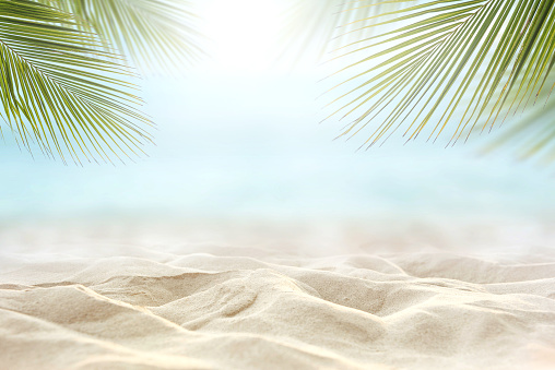sand with blurred sea sky background, summer day 950138688