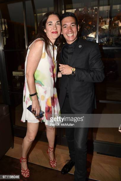 Sanda Josipolvic and Matthieu Yamoum attend Christopher R King Debuts New Luxury Brand CCCXXXIII at Baccarat Hotel on June 5 2018 in New York City