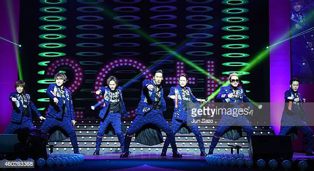 Sandaime J Soul Brothers perform during the Samantha Thavasa 20th Anniversary Party at Tokyo Dome City Hall on December 10 2014 in Tokyo Japan