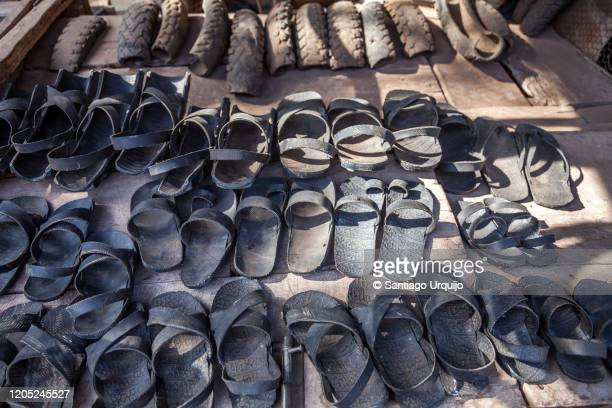 sandals made of rubber for sale - open toe stock pictures, royalty-free photos & images