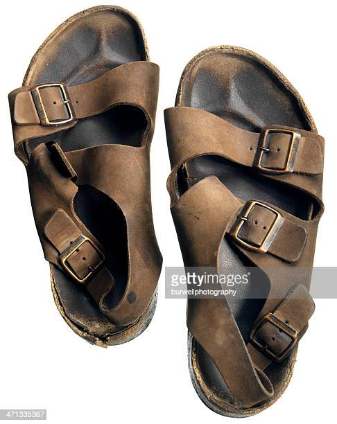 sandals on white - open toe stock pictures, royalty-free photos & images