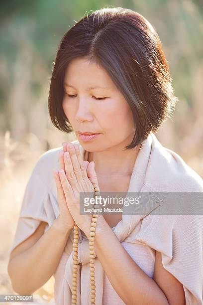 Sandalwood Beads - Woman Praying