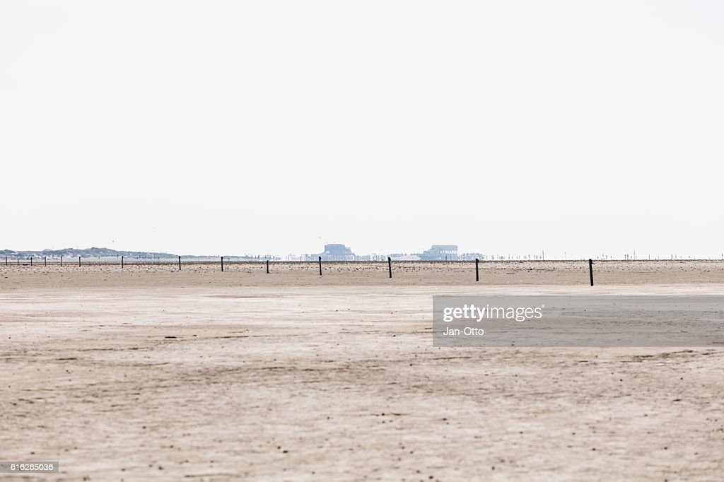 Sandbank of St. Peter-Ording, Germany : Stock Photo
