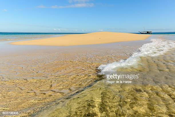 Sandbar and dhow, Ibo Island, Mozambique