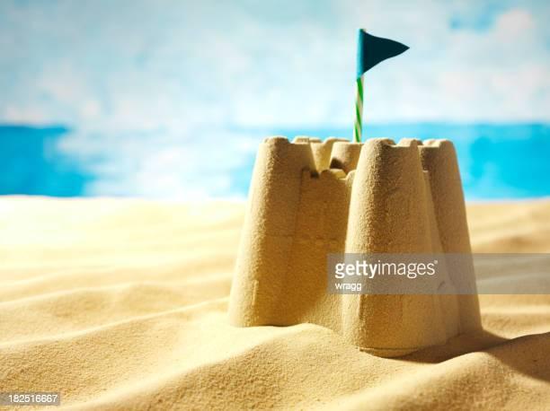 Sandcastle on a Beach