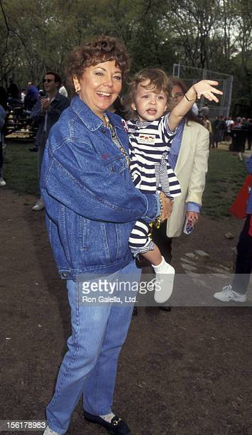 Sandee Lewis and daughter Danielle Lewis attend Broadway Stars 'First Ball' Benefit on May 4 1995 at Central Park in New York City