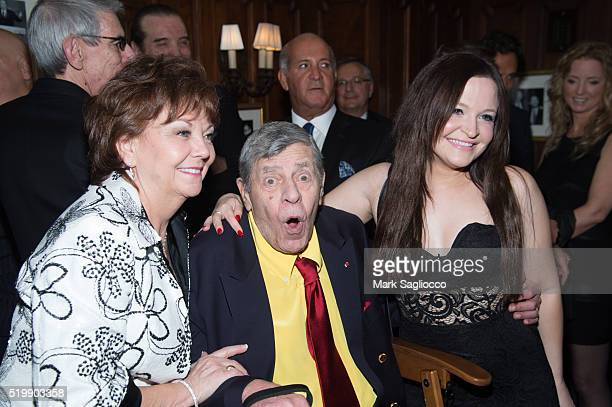 SanDee Pitnick Comedian Jerry Lewis and Danielle Sarah Lewis attend the 90th Birthday of Jerry Lewis at The Friars Club on April 8 2016 in New York...