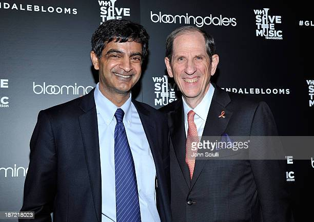 Sandeep Mathrani and Michael Gould Bloomingdale's chairman and CEO attend Bloomingdale's Glendale opening gala celebration with VH1 Save The Music...