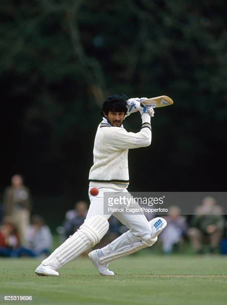 Sandeep Patil batting for India during the tour match between Lavinia Duchess of Norfolk's XI and the Indians at Arundel 4th May 1986